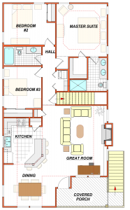 405 Holly Generic Floor Plan Furniture