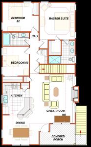405 Holly Generic Floor Plan Furniture