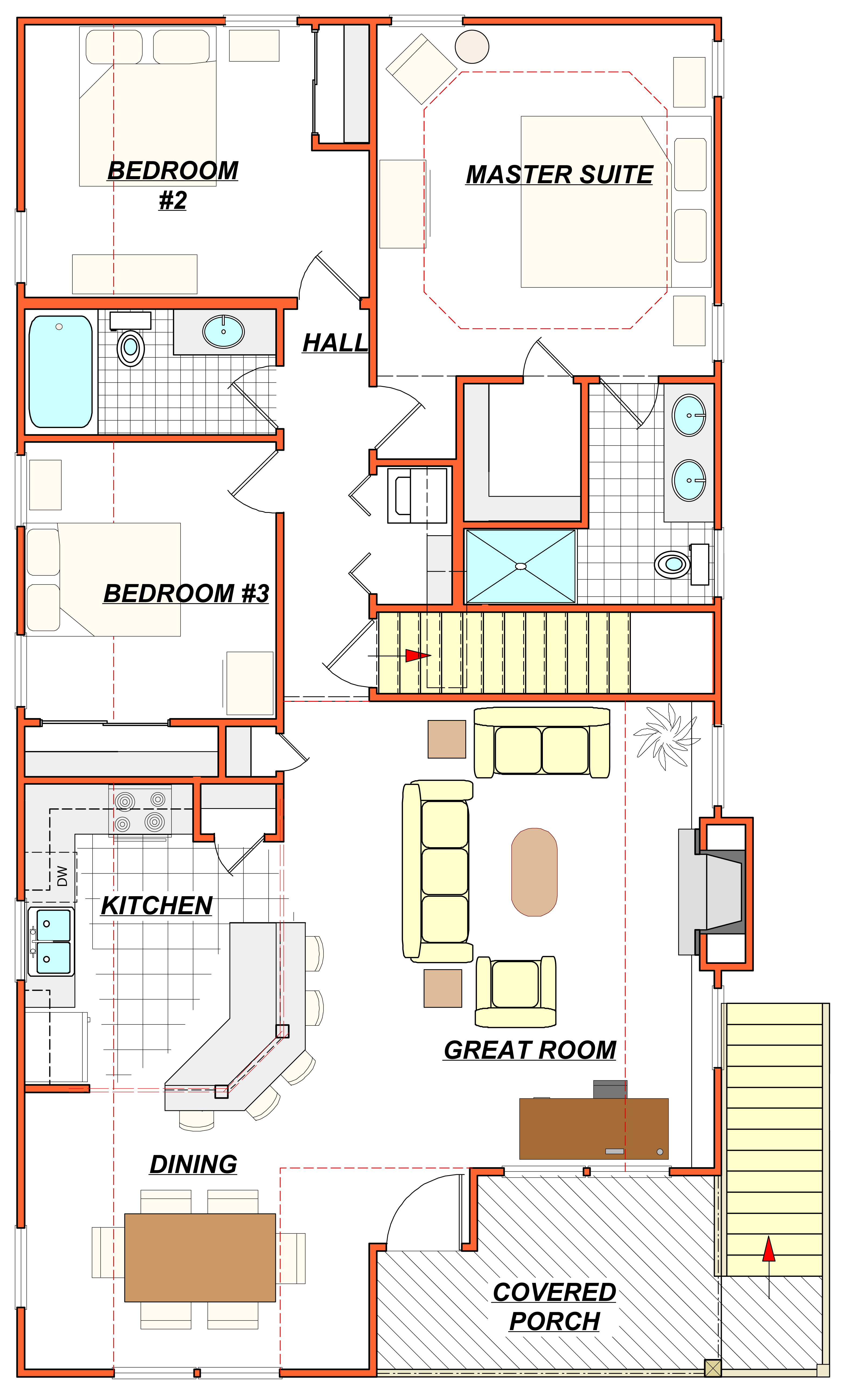 Outer banks luxury vacation real estate and investment for Floor plan furniture